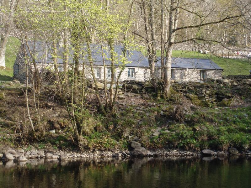 View of cottage from the opposite bank