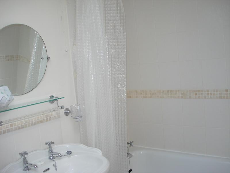 Full size bath with power shower