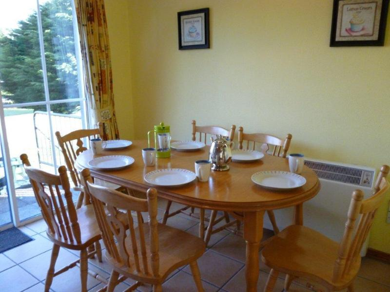 Sit down and enjoy your dinner and watch the children play in the secure walled garden.