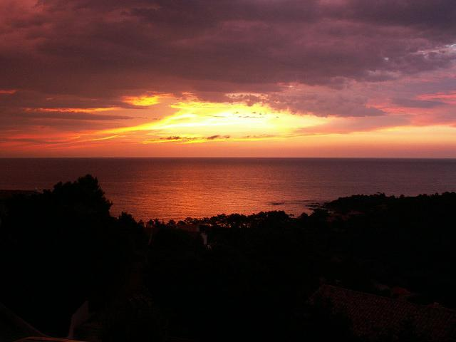 Sunrise as seen from the villa.