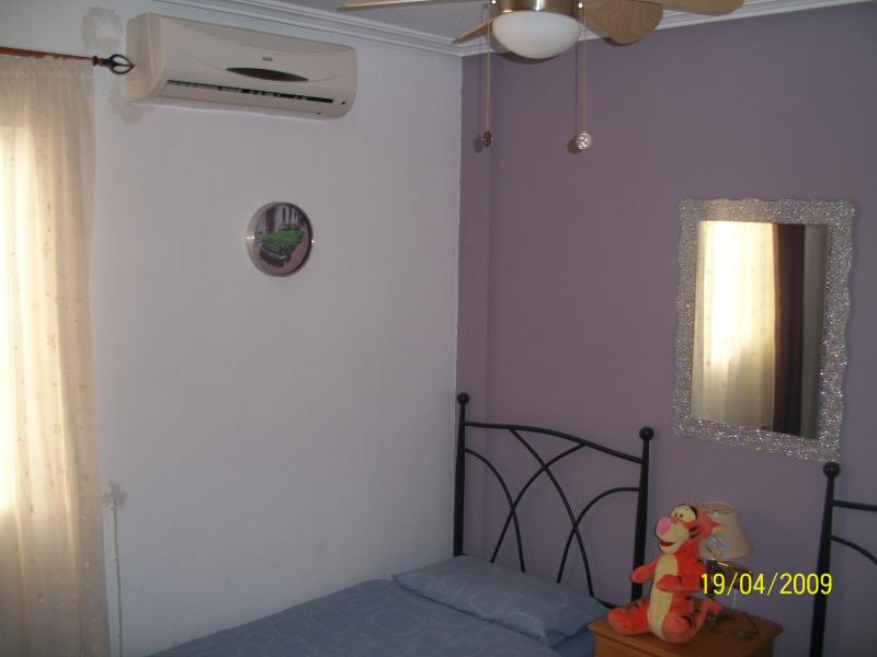 Bedroom 2 with built in wardrobes and air con