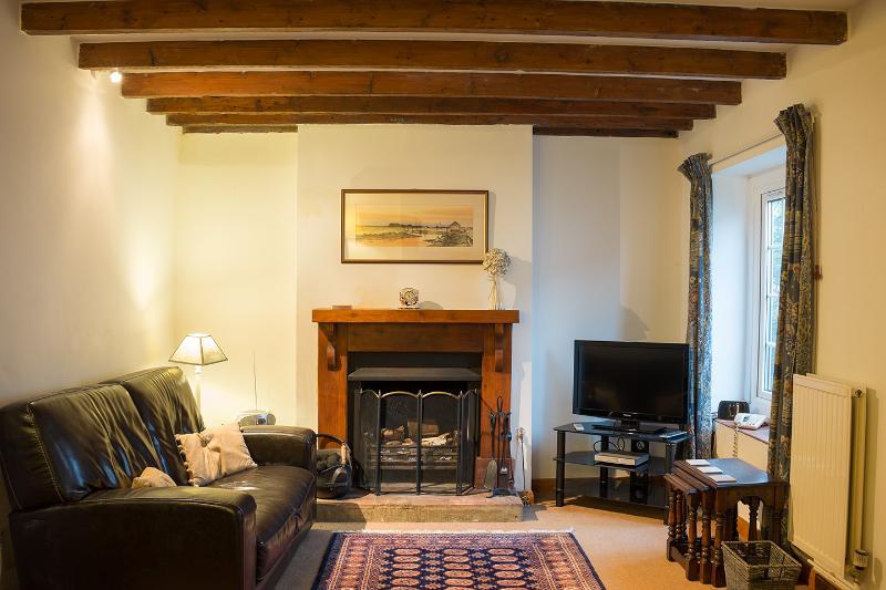 Oak Beamed Living Room with Open Fire - Great in Winter