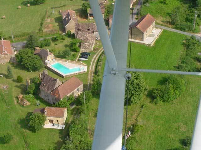 Vue aérienne du hameau du COUDOUGNOL