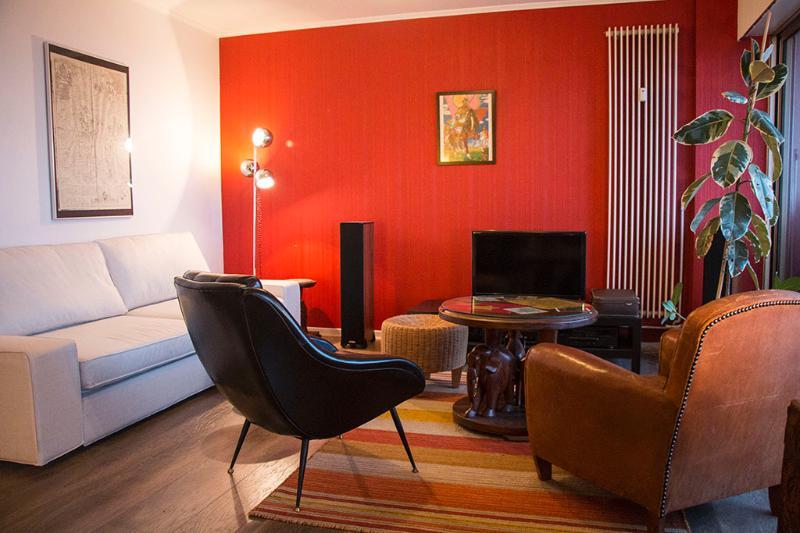 Salon, avec canapé-lit 2 places confortable et facile à mettre en œuvre