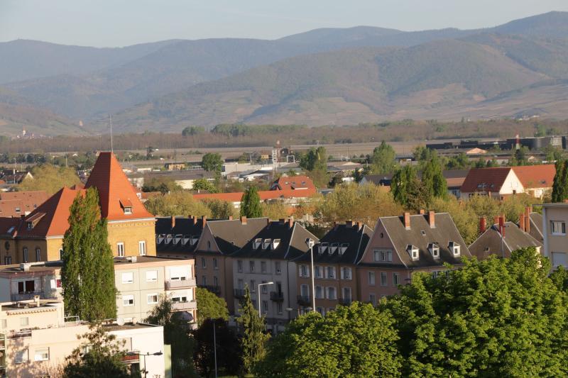 Vue ouest depuis l'appartement et la terrasse
