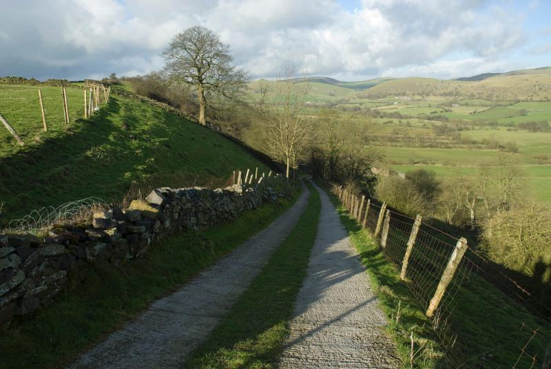 Walk from the cottage through criss cross of nearby lanes and paths.