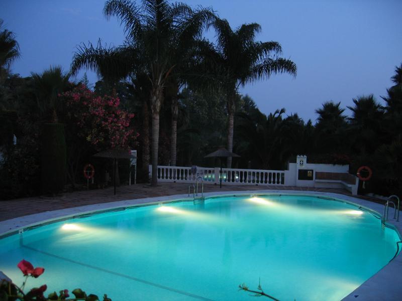 The communal pool (one of three)