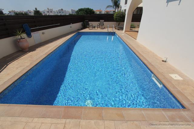 Large, private mosaic tiled pool....