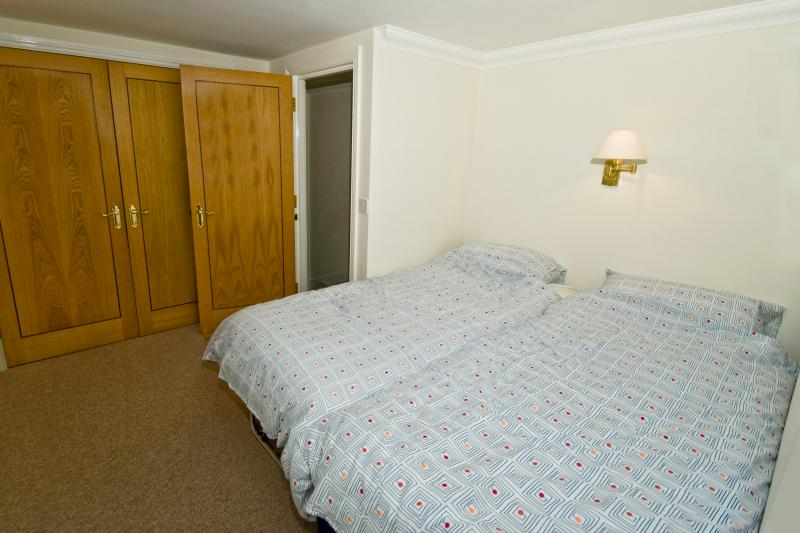 BR 2 single beds. Large storage cupboard with travel cot, high chair and stair gate. Ensuite shower