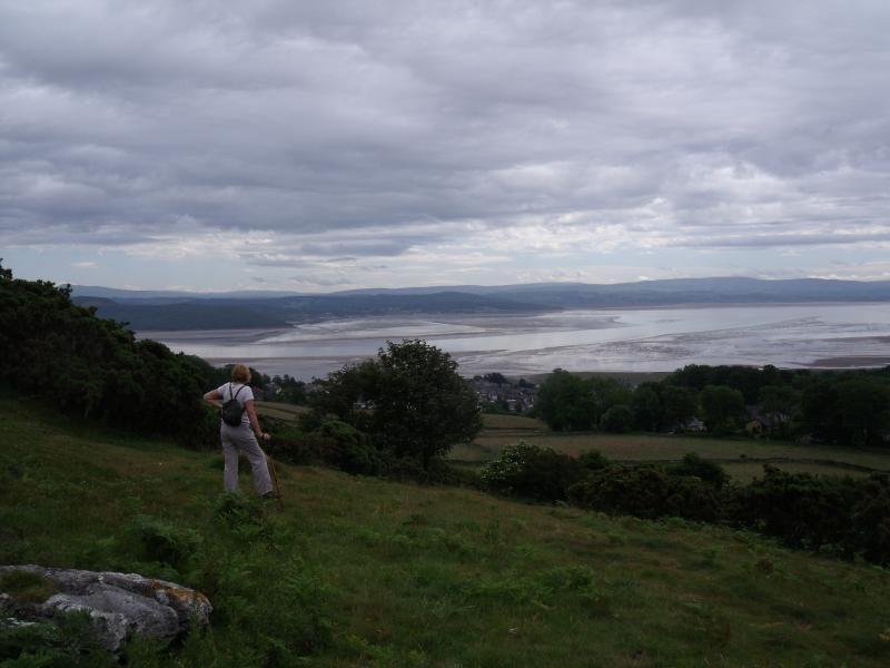 ¡ Qué vista! Río Kent y la bahía de Morecambe de Hampsfell