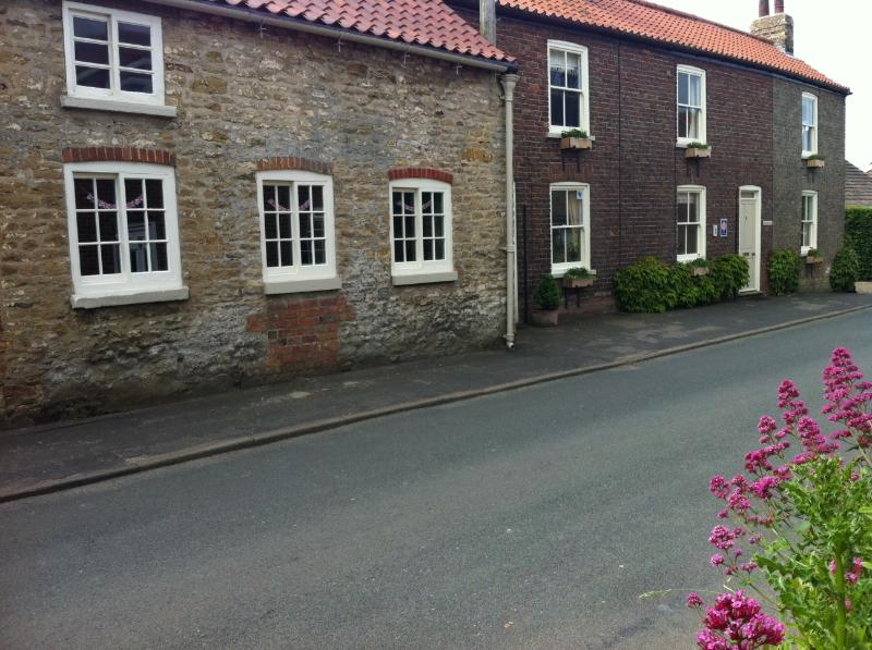 Frontage of Nordham Cottages, in quiet Nordham with stunning Yorkshire Wold walks from the doorstep