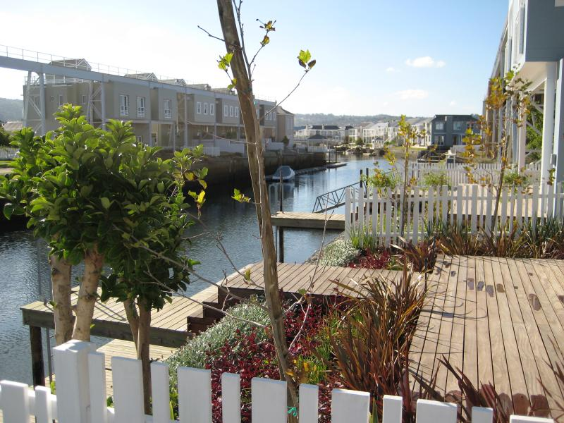 Sunny deck leading to private jetty