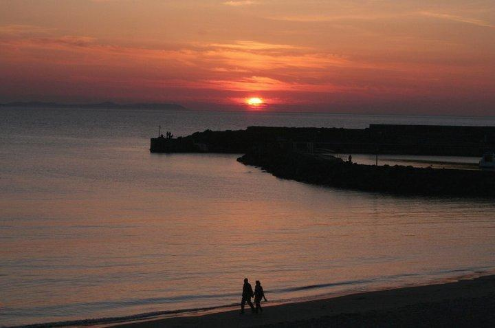 Sunset View from Apartment overlooking Portrush Harbour