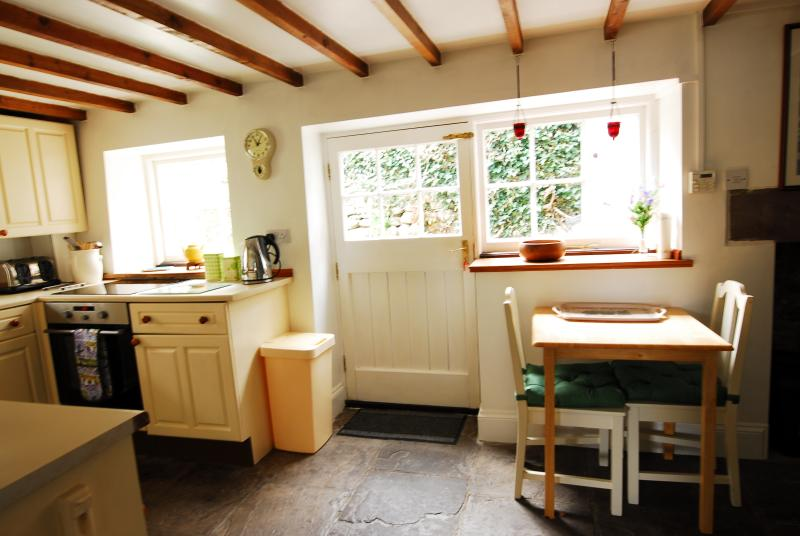 The kitchen looking towards the garden