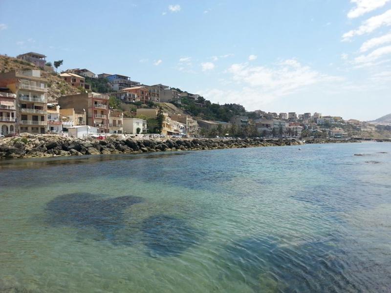 View of the coast of Marina di Palma