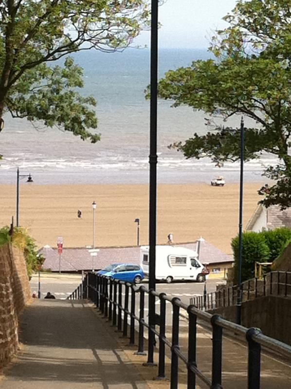 View of Filey Beach from Town