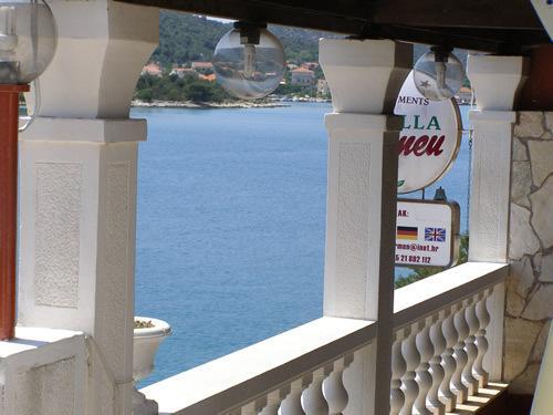 View from terrace, Carmen apartments, summer rentals in Croatia Trogir