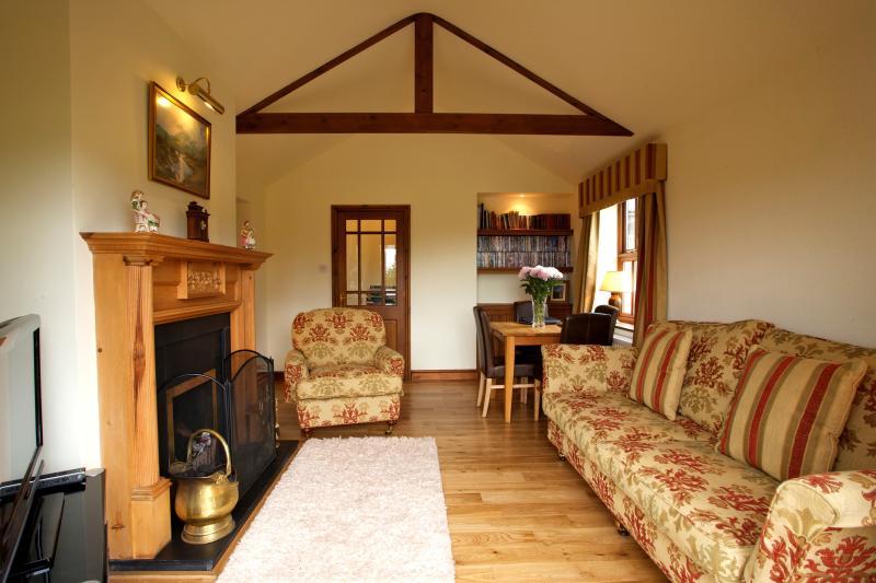 Salón casa de Brownside, muro de Adriano, Bardon Mill, Hexham, Northumberland
