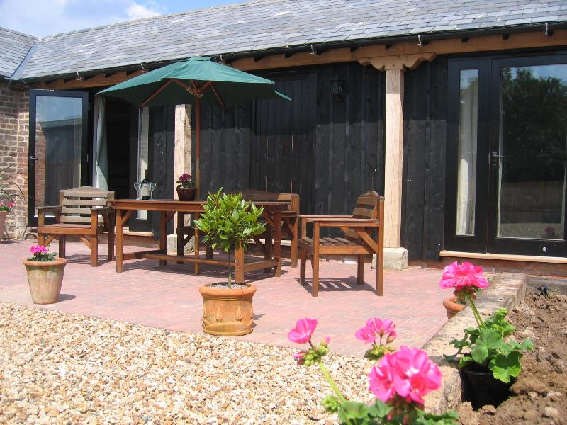 The courtyard area of Copper House Cottage