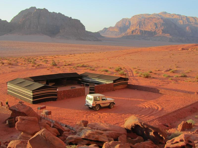 in the heart of the Wadi Rum protected area
