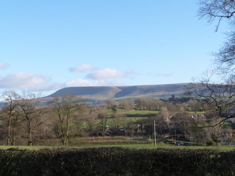 Glorious Pendle Hill as viewed from the park.  Why not try the Pendle Witch trail or the Ghost Walk!