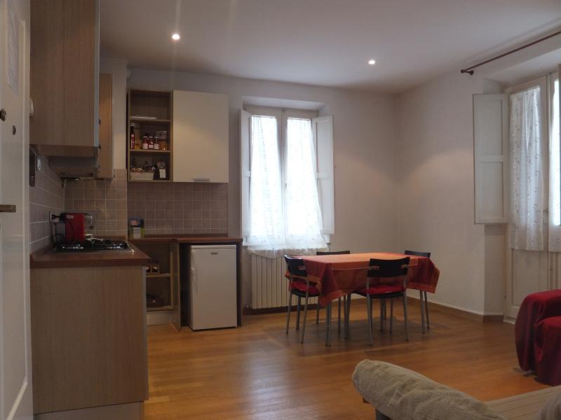 living area - kitchenette