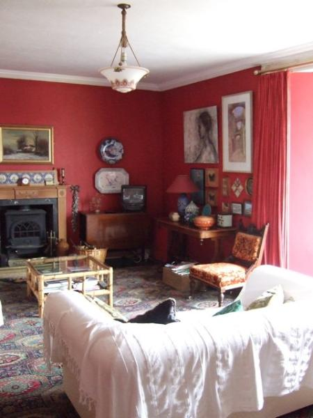 The first floor living room in the day-time.