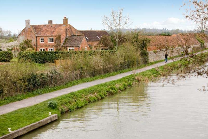 View from canal bridge