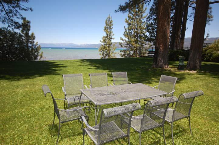 Dine on the Lawn Overlooking Lake Tahoe