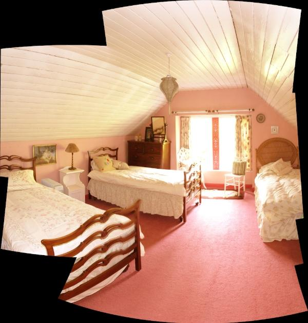 The pink Garden Bedroom (triple) ideal for kids.
