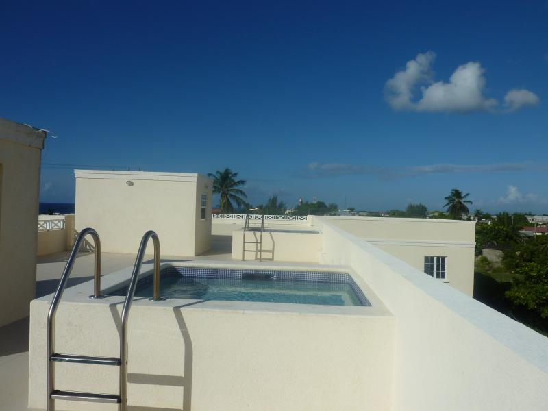 Pools on the roof terrace. The terrace gives 360 degree views of the South Coast.
