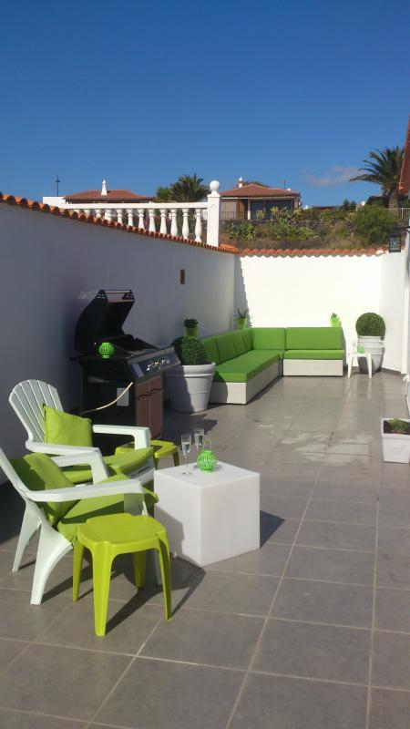 Terrace with BBQ - relax with a glass of wine