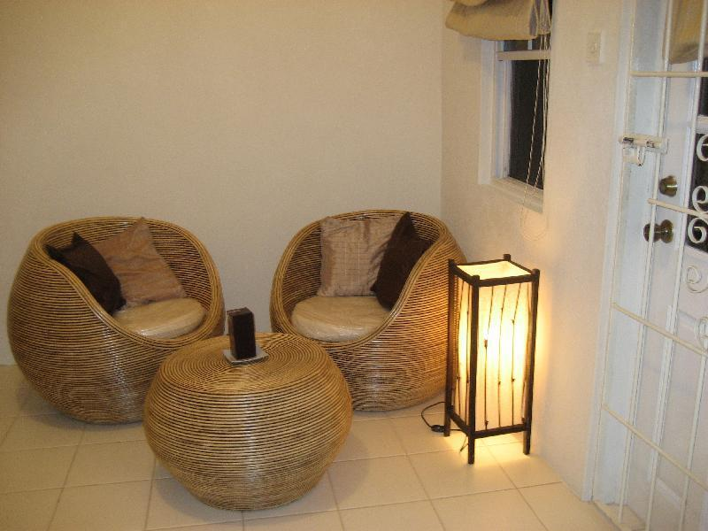 Indoor seating area