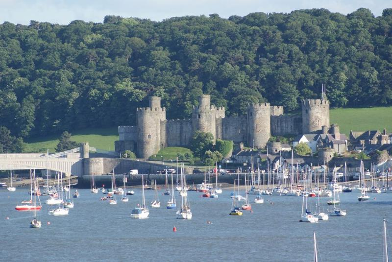Mighty Conwy Castle, built by King Edward I in the 1280s.