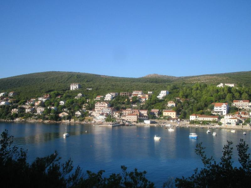 A view of the village from the other side of the bay