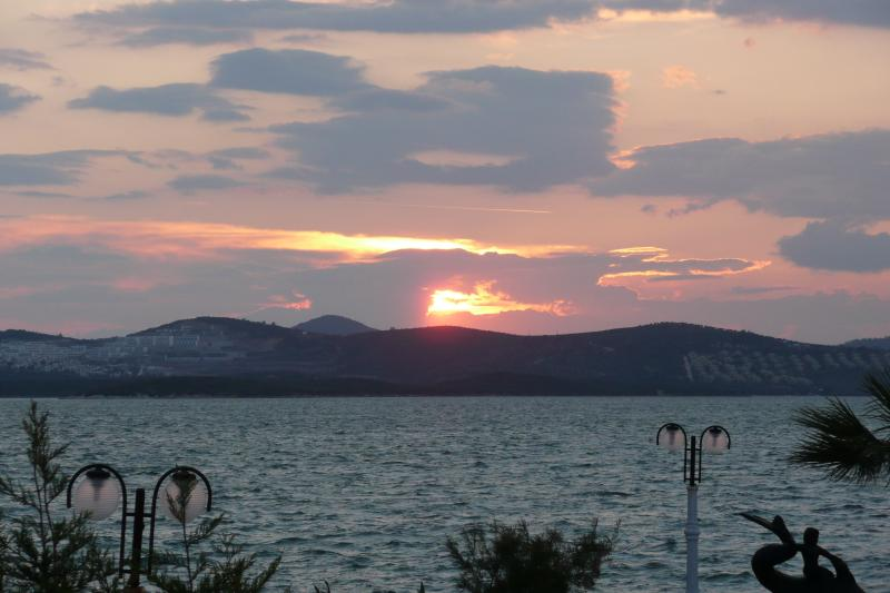 Sunset view from Gulluk restraunt looking onto the resort...