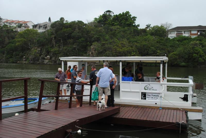 Enjoy a relaxing barge trip up or down the Nahoon River