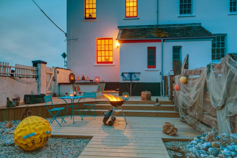 Enjoy a seaside bbq in the coast inspired garden