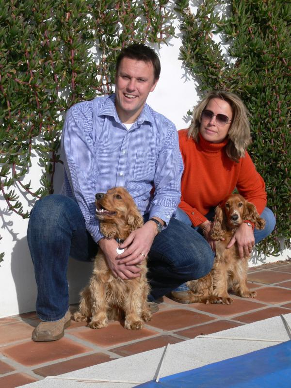 The owners, Alick & Debbie with Timi and Maddie