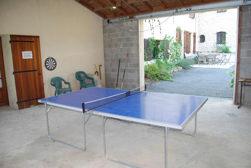 Games room with table tennis, pool table, darts etc