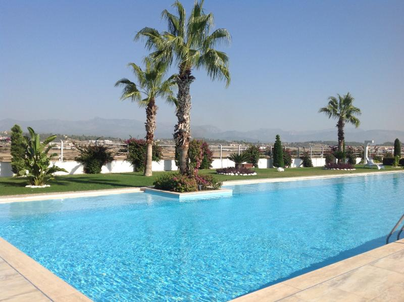 There is a superb outdoor pool with great views towards the TAURUS  mountains