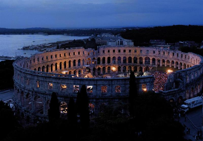 The amphitheater in Pula called 'Arena'