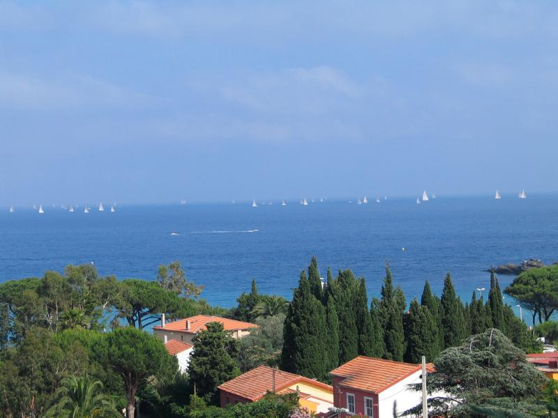 The view from the garden is almost 180 degrees of the Med. - looking South