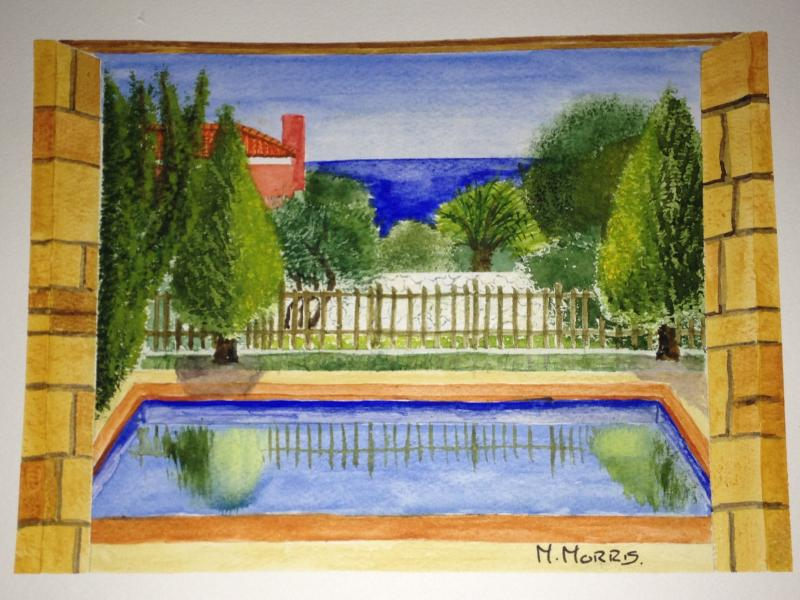 A beautiful painting from our villa by our lovely guests, Mick and Jeanette!