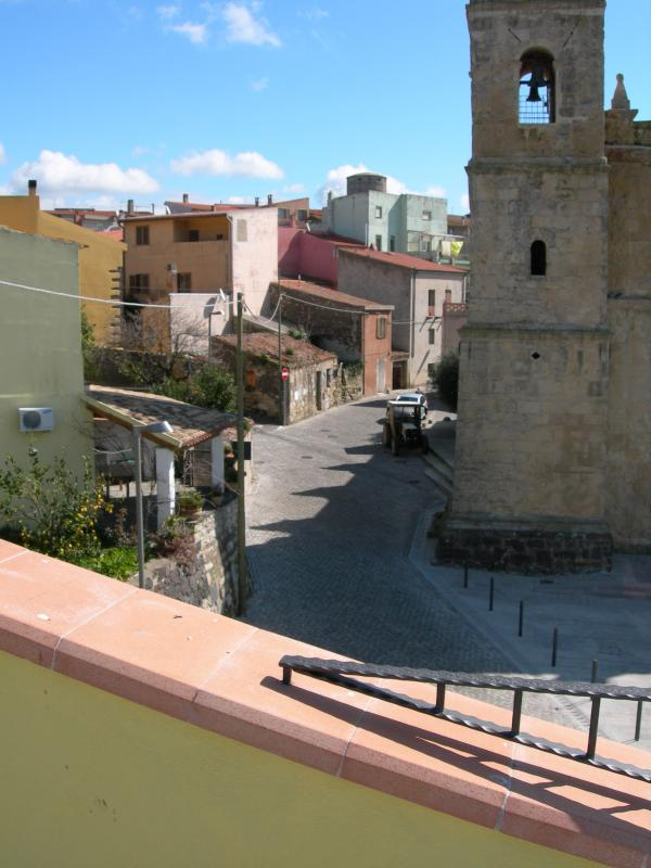 View of village from roof terrace