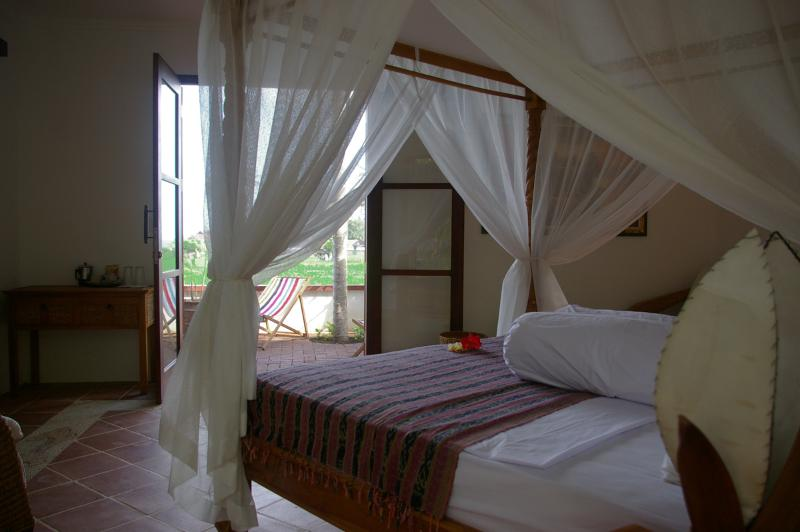 Paddie A/C Suite with ensuite, private terrace and open air Bali style bathroom