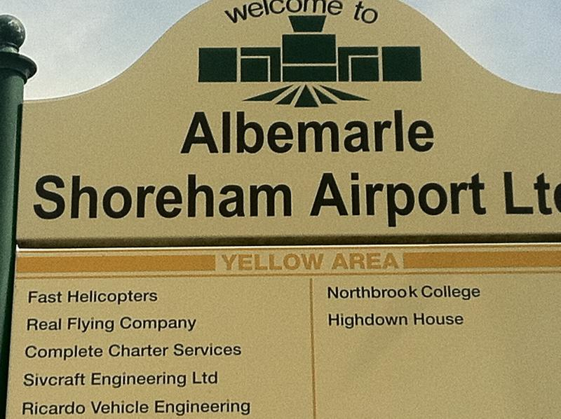 Shoreham Airport is the oldest working airport in England