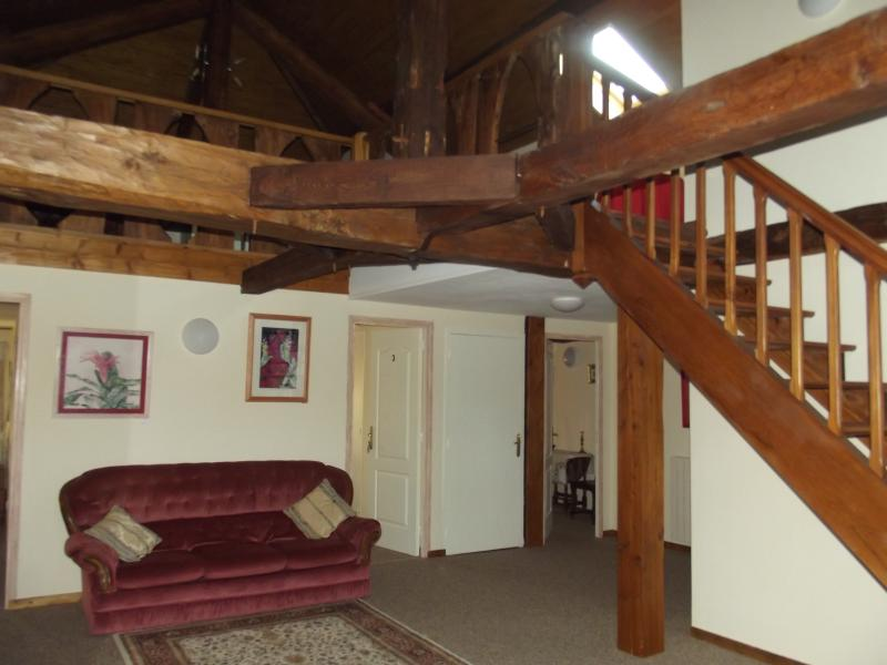 landing and stairs to mezzanine