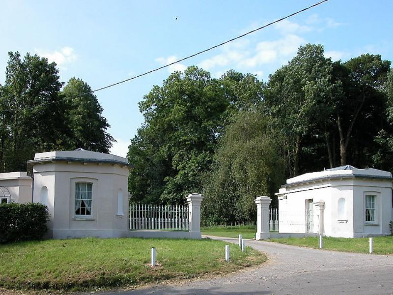 East and West Lodge stand at the entrance to a country estate