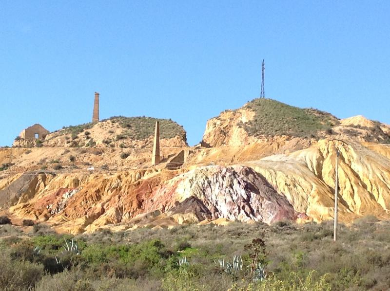 Colourful deposits at the historic Mazarron mines